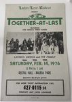 "Latin Lowriders Car Club: Poster for a dance (""Together at Last"") hosted by the Latin Lowriders"