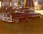 """Latin Lowriders Car Club: Photograph of a 1954 Chevy (""""Betsy Lou"""") belonging to Henry Lozano"""