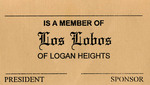 Los Lobos Car Club: Membership card for Los Lobos Car Club