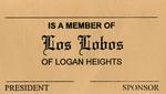 Los Lobos Car Club: Membership card for Los Lobos Car Club