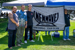 New Wave Car Club: Photograph of New Wave Car Club members with banner at Lowrider Council event at Mission Bay