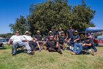 Oldies Car Club: Photograph of Oldies Car Club members at Lowrider Council event at Mission Bay