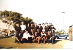 Oldies Car Club: Photograph of car club members with plaque