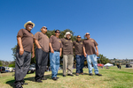 Originales Car Club: Photograph of Originales Car Club members at Lowrider Council event at Mission Bay