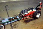 "Serra Car Club: Photograph of ""El Aguila"" drag racer belonging to Mathias Ponce"
