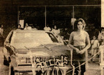 Specials Car Club: Newspaper clipping of Joanna Samora Williams with a 1979 Oldsmobile Cutlass Supreme
