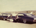 United Browns Car Club: Photograph of a 1956 Chevrolet station wagon and 1968 Chevrolet Impala