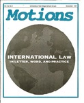 Motions 1997 volume 33 number 4
