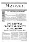 Motions 2003 volume 39 number 2