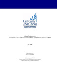 2008 Alumni Perspectives: Evaluation of the Nonprofit Leadership and Management Masters Program