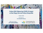 2020 Culture Shift: Measuring COVID-19 Impact on San Diego Arts and Culture Nonprofits by Thomas Abruzzo, Laura Deitrick, Christine Jones, and Jonathan Glus