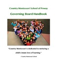 Country Montessori School of Poway Governing Board Handbook by The Nonprofit Institute, University of San Diego