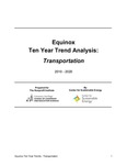 Equinox Ten Year Trend Analysis: Transportation Choices by Michelle Jones and Christopher Holguin