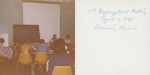 USD Nurses' Honor Society Photograph: First organizational meeting, April 2, 1979, Reviewing bylaws by Sigma Theta Tau. Zeta Mu Chapter (University of San Diego)