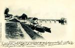 Bergerac - Les Quais, le Pont. Vue du Chemin du Barrage