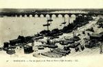 Bordeaux - Vue des Quais et du Pont de Pierre (Effet de nuit)