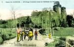 Bidache - Dans les Landes - Attelage Landais sous le Château de Bidache