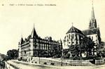 Pau - L'Hotel Gassion et l'eglise Saint-Martin