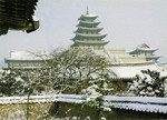 Korea – Seoul – Snow-covered Scene of Kyŏngbokkung Palace