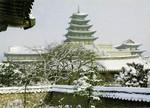 Korea –  Seoul – Snow-covered Scene of Kyŏngbokkung Palace