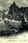 Chamonix -Aiguille du Dru et Hôtel du Montanvert