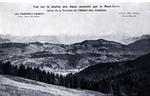 Chamonix -Vue sur la chaîne des Alpes dominée par le Mont-Blanc