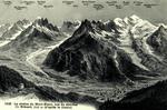 Chamonix -La chaîne du Mont-Blanc, vue du sommet du Brévent
