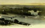 Lyon - Panorama du Parc de la Tete d'Or et le Pont de la Boucle