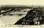 Lyon - Panorama des Ponts sur le Rhône pris de la Croix Rousse