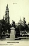 Antwerp - Cathédrale et Statue Rubens.