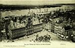 Antwerp - Vue de l'Hôtel de Ville et du Bas-Escaut
