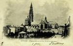 Antwerp - Vue générale de la Place Vert & Cathédrale