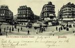 Brussels - Place de la Bourse et Boulevard Anspach
