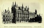 Belgium – Bruges – Le Palais de Justice – L'Hôtel de Ville et la Chapelle du Saint-Sang