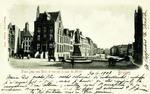 Bruges - Place Jean van Eyck et vue sur le quai du Miroir
