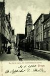 Bruges - Rue Sud du Sablon et la Cathédrale du St. Sauveur