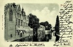 Bruges - L'ancien Palais du Franc vu du canal