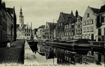Bruges - Le Quai du Miroir et la Place Van Eyck