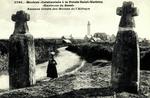Brest - Menhivs christianisés à la Pointe Saint-Mathieu