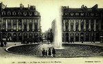 Rennes - La place du Palais et la Rue Bourbon