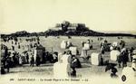 Saint-Malo - La Grande Plage et le Fort National