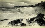 Paramé - La Mer à l'assaut de la Digue