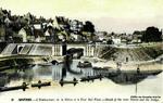 Nevers - L'Embouchure de la Nièvre et le Pont Mal Place