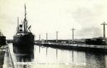 Panama – Panama Rail Road Steamer in Gatun Locks, Panama Canal