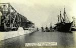 "Panama – W.S. Submarines with Tender ""Severn"" in Gatun Locks, Panama Canal"