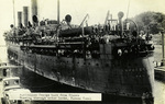 Panama – Australian Troops back from France Passing through Gatun Locks, Panama Canal