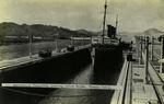 Panama – Australian Troopship passing Gatun Locks, Panama Canal