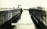 Panama – Operating Gatun Locks, Panama Canal U.S. Submarines in lower Chamber