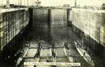 Panama – U.S. Submarines in Gatun Locks, Panama Canal