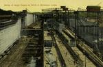 Panama – Series of Large Cranes at Work in Miraflores Locks
